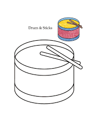 0 level drum and sticks coloring page download free 0 level drum