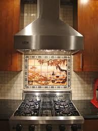 Mosaic Tiles For Kitchen Backsplash Kitchen Backsplash Tile Murals By Linda Paul Studio By Linda Paul