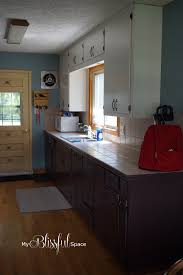 What Is The Best Shelf Liner For Kitchen Cabinets by Remodelaholic Diy Refinished And Painted Cabinet Reviews