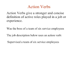 Resume Action Verbs  gallery for quot action verbs for resume     HiredGrad