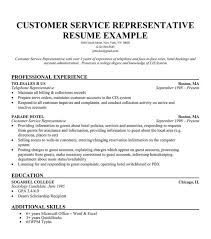 Assistant Or Cover Letter  Customer Service Representative Resume Example With Professional Experience As Telephone Representative And Education