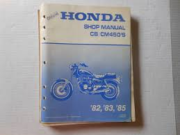 honda oem shop manual cb cm450 82 83 85 61mc003 u2022 49 99