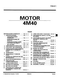 mitsubishi motor serie 4m40 2000 manual del taller pdf