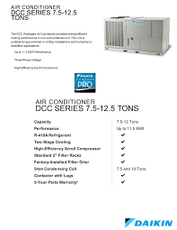 10 ton daikin package unit central air system 208 230v or 460v 3