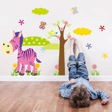 cartoon animal forest 3d wall stickers decals for nursery and kids