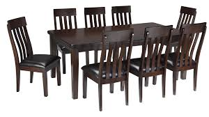 ashley signature design haddigan 9 piece rectangular dining room