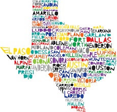 Texas Map Austin by Texas Digital Illustration Print Of Texas State Cute For A Map