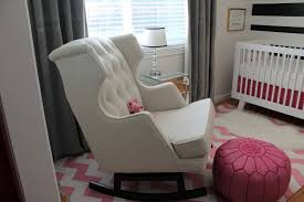 baby nursery preparing for the baby room upholstered rocking