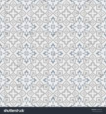 seamless moroccan pattern grey blue tile stock vector 324062381