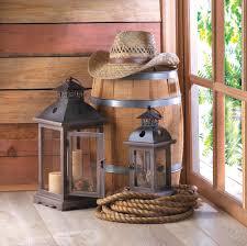monticello wood lantern l at koehler home decor