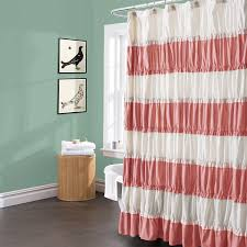 amazon com lush decor isla shower curtain 72 by 72 inch coral