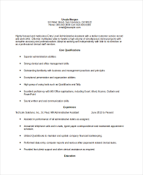 Resume examples administrative assistant position