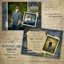Invitation Cards For Graduation Graduation Announcement Card Template For Photographers Just
