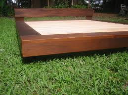 Plans For Wooden Platform Bed by Diy Outdoor Platform Bed Teak Or Alder Wood Beach Platform Bed