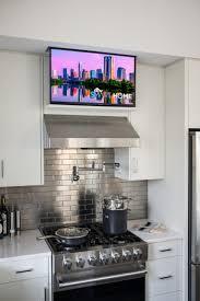 Backsplash For Kitchen Ideas Best 25 Kitchen Tv Ideas On Pinterest Wood Mode Tv In Kitchen
