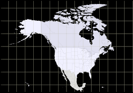 Political Map Of United States And Canada by Map Of North America With Latitude And Longitude Grid