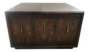 brutalist coffee table cabinet chairish