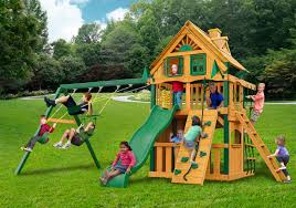 Cedar Playsets Furniture Pretty Frontier Treehouse Gorilla Playsets With Wood