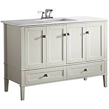 White Bathroom Vanity With Granite Top by 48