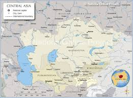 Show Me A Map Of The Middle East by Map Of Central Asia And Caucasus Region Nations Online Project