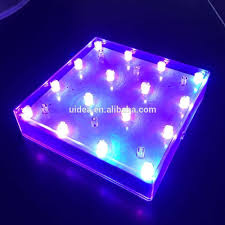 Eiffel Tower Vases Centerpieces 5 Inch Square Base With 16 White Led Base Light For Eiffel Tower