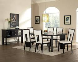 dining room black and white dining chair leather dining chair