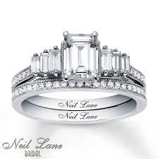 neil lane engagement rings jared neil lane bridal 1 1 2 ct tw diamonds 14k white gold set