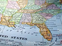 Southeast Map Map Of The Southeast United States Stock Photo 139257648 Istock