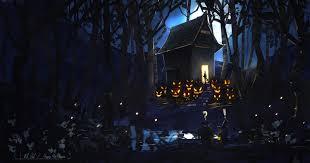 spooky halloween backgrounds wallpapersafari