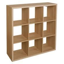 Cube Storage Shelves Form Mixxit Natural U0026 Oak Effect 9 Cube Shelving Unit H 1080mm W