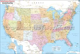 A Map Of America by Buy Large Road Map Of Usa