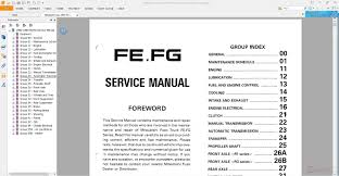 mitsubishi fuso 1992 95 fe fg service manual auto repair manual