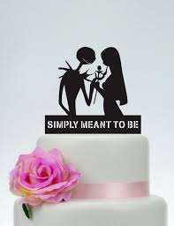 wedding cake topper simply meant to be personalized cake topper