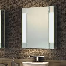 led mirror cabinet w 2 adjustable shelves u0026 mirror door
