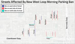Chicago Parking Map by New West Loop Morning Parking Ban Here U0027s What Streets Are