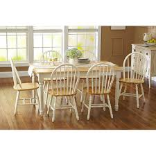 Dining Table Set Traditional Amazon Com Fortune Bliss 7 Piece Wooden Dinette Table With 6