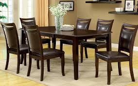 amazon com furniture of america carlson 7 piece dining table set