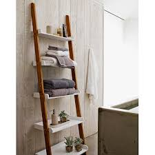Over The Toilet Ladder Ladder Shelf For Bathroom 54 Terrific Interior With Natural Wooden
