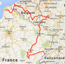 Luxembourg Map France To France Via Luxembourg Germany And Belgium