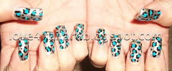 Blue Leopard Print by Love4nailart Silver Blue Leopard Animal Print Nail Design