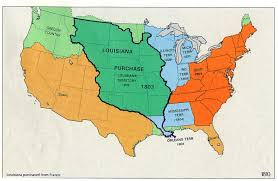 Big Map Of The United States by Louisiana Purchase