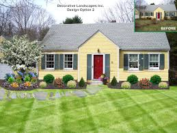 Cape Cod House Plans With Porch Landscaping Ideas Front Yard Cape Cod House The Garden