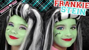 Monster Halloween List by Frankie Stein Monster High Costume Makeup Tutorial For Halloween