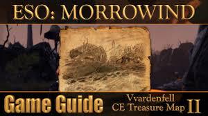 Morrowind Map Eso Morrowind Vvardenfell Ce Treasure Map Ii Youtube