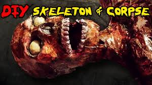 Life Size Skeleton Halloween by How To Make A Skeleton Diy Homemade Skeleton And Corpse