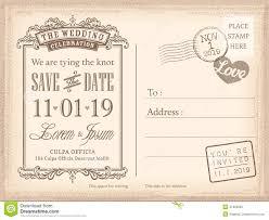 Printable Invitation Card Stock Vintage Postcard Save The Date Background For Wedding Invitation