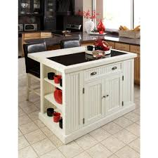 Distressed Black Kitchen Island by Home Styles Nantucket White Kitchen Island With Granite Top 5022
