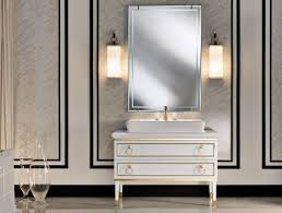 Bathroom Mirror With Lights Built In by Bathroom Decorating Design Ideas Using Cylinder White Glass