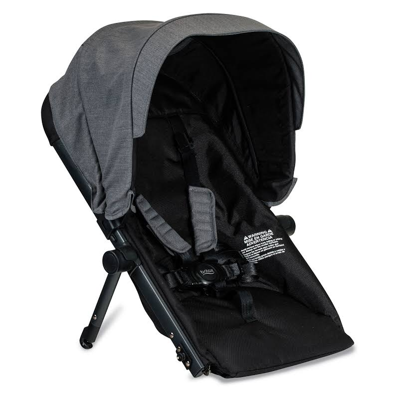 Britax S934000 B Ready Polyester Second Seat Conversion For G3 Strollers, Gray