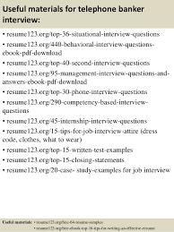 Banker Resume Example by Top 8 Telephone Banker Resume Samples